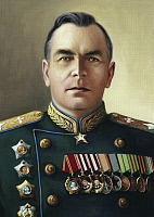 0194682 © Granger - Historical Picture ArchiveFEDOR YAKOVLEVICH FALALEYEV.   Fedor Yakovlevich Falaleyev, *1899-1955+, military leader, Marshal of the Air Force of the Red Army, Soviet Union, portrait after a painting by N.W. Rshevski, ullstein bild ID 00958428.