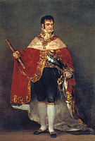 0194814 © Granger - Historical Picture ArchiveFERDINAND VII.   Paintings Ferdinand VII King of Spain in coronation regalia painting by Goya - around 1800, ullstein bild ID 00676473.