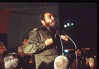 0194883 © Granger - Historical Picture ArchiveFIDEL CASTRO (1926-2016).  Cuban revolutionary leader. Issuing an address on the occasion of the eleventh World Youth Festival (Weltjugendfestspiele) in Havana, Cuba. Photograph, 9 August 1978. Full Credit: ullstein bild / Granger, NYC. All Rights Reserved.