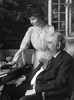 0198435 © Granger - Historical Picture ArchiveGUIDO FUERST VON HENCKEL VON DONNERSMARCK.   Henckel von Donnersmarck, Guido Fuerst von *1830-1916+ Business man, Germany with his wife in the ladies' room - Photographer: Rudolph Duehrkoop - around 1910 Vintage property of ullstein bild, ullstein bild ID 00282284.