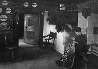 0198775 © Granger - Historical Picture ArchiveHANNS FECHNER.   Fechner, Hanns (Johannes) - writer and painter, Germany *07.06.1860-30.11.1931* - Interior view of his house ' Huette Hegal ' in the artists colony Schreiberhau - Photographer: - - undated Vintage property of ullstein bild 01028424.