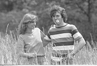 0204948 © Granger - Historical Picture ArchiveLOTHAR MATTHAEUS.   Lothar Matthaeus - Midfielder, FC Bayern Munich, Germany - with partner Silvia Mathias - 07.06.1980, ullstein bild ID 00948132.