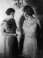 0207749 © Granger - Historical Picture ArchiveNEE ON FRIEDLAENDER FULD BARONESS MARION GOLDSCHMIDT ROTHSCHILD.   baroness Marion Goldschmidt-Rothschild, nee on Friedlaender-Fuld Germany as amateur actress with baroness Uexkuell (to the right) in the play Doris loest die Ehefrage by Harry Segall in the Berlin theater Komoedienhaus, director: Leontine Sagan. The play was performed to support the charitab