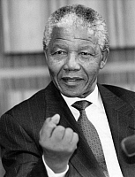 0207768 © Granger - Historical Picture ArchiveNELSON MANDELA (1918-2013).   South African political leader. Photograph, 1993. Full credit: Kucharz - ullstein bild / Granger, NYC -- All Rights Reserved.