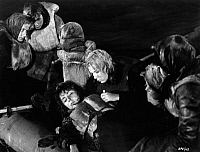 0217544 © Granger - Historical Picture ArchiveCULTURE.   Movie 'Nacht fiel ueber Gotenhafen', Germany 1959, director Frank Wisbar (about the sinking of German refugee ship 'Wilhelm Gustloff') - film still showing Sonja Ziemann as Maria Rieser and Ursula Herwig as Inge on board of a lifeboat.
