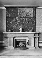 0217550 © Granger - Historical Picture ArchiveCULTURE.   German Empire - Hamburg Freie- und Hansestadt (Hamburg Free and Hanseatic city) - Interior design at a dwelling. Big fireside with tapestry. - Photographer: - Published by: 'Die Dame' 3/1924 Vintage property of ullstein bild.