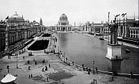 0217932 © Granger - Historical Picture ArchiveCULTURE.   Chicago World's Fair (World's Columbian Exposition) 1893: The Court of Honorar and the Great Lake. 1893.