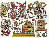 0218174 © Granger - Historical Picture ArchiveCULTURE.   Mexico Pre-colonial period Codex Zouche-Nuttall, a pre-colonial illustrated manuscript presumably from the area of the Mixtec (State of Oaxaca). - London, British Museum (after the facsimile Peabody Mus., Harvard Univ., 1902) - around 1050.