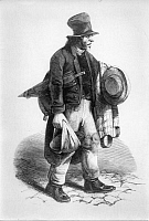 0218681 © Granger - Historical Picture ArchiveDAILY LIFE.   Jewish daily life Historic depictions Jewish rag trader - Dutch wood engraving - around 1840.