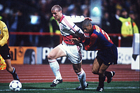 0220326 © Granger - Historical Picture ArchiveSOCCER.   FC Bayern Muenchen - FC Barcelona 1:0.