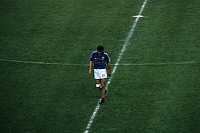 0220715 © Granger - Historical Picture ArchiveSOCCER.   UEFA European Football Championship 1984, Final_tournament in France, final in Paris: France vs. Spain 2:0, scene of the match, sending-off Yvon Le Roux (FRA), June 27, 1984.