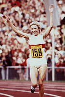 0221925 © Granger - Historical Picture ArchiveSPORTS.   Hildegard Falck - athlete, 800 meters, winning the gold medal, 1972 Summer Olympics, Munich, Germany - 03.09.1972.