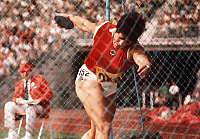 0222294 © Granger - Historical Picture ArchiveSPORTS.   Faina Melnik - Athlete, Athletics, USSR - in action, discus throwing - date unknown (26.08.1972 - 11.09.1972).