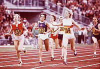 0222569 © Granger - Historical Picture ArchiveSPORTS.   Hildegard Falck - athlete, 800 m, winning the gold medal, 1972 Summer Olympics, Munich, Germany - 03.09.1972.