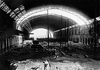 0222784 © Granger - Historical Picture ArchiveTHEATER.   Germany Berlin: interior view of the former old east railway station Ostbahnhof at Kuestriner Place, since domicile 1929 of the vaudeville Plaza , during modification - April 1929.