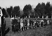 0223219 © Granger - Historical Picture ArchiveSOCIAL.   Series: Argentina: members of the German group of the Argentine pathfinder in rank and file - Photographer: Willi Ruge - 1934 Vintage property of ullstein bild.