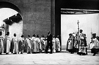 0223731 © Granger - Historical Picture ArchiveRELIGION.   Faulhaber, Michael von - Theologian, Germany *05.03.1869-12.06.1952+ - archbishop of Munich and Freising - inaugurates the theatre in Oberammergau - Photographer: Sennecke - Published by: 'Tempo' 28.04.1930 Vintage property of ullstein bild.