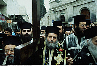 0223778 © Granger - Historical Picture ArchiveRELIGION.   Israel, Jerusalem, Via Dolorosa. Greek orthodox procession on Good Friday. 12.04.1996.