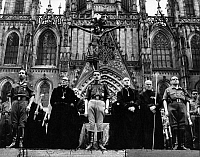 0223788 © Granger - Historical Picture ArchiveRELIGION.   Spain, Barcelona: Priests and military persons during a church service at Good Friday / Easter. - probably 1969.