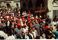 0223876 © Granger - Historical Picture ArchiveRELIGION.   Israel, Jerusalem, Via Dolorosa. Greek orthodox procession on Good Friday. 05.04.1996.
