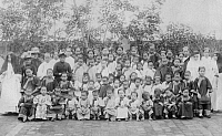 0223889 © Granger - Historical Picture ArchiveRELIGION.   China - Big form of chinese childs. They learn a lot about Christendom at the mission school. - Photographer: - 1900 Vintage property of ullstein bild.
