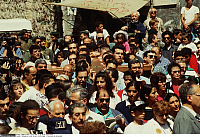 0223992 © Granger - Historical Picture ArchiveRELIGION.   Israel, Jerusalem, Via Dolorosa. Greek orthodox procession on Good Friday. 05.04.1996.