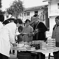 0224876 © Granger - Historical Picture ArchiveHEALTH.   China - Fujian: Medical staff sending medicine to remote areas - 29.07.1978.