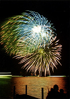 0225536 © Granger - Historical Picture ArchiveCUSTOM.   Germany, Berlin. Fireworks at Wannsee. 24.09.1993.
