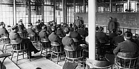 0225601 © Granger - Historical Picture ArchiveJUSTICE.   USA - New York Bundesstaat State: USA Reformatory: Elmira Correctional Facility, prisoners attending lessons - 1913 Vintage property of ullstein bild.