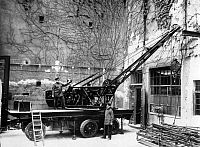 0225683 © Granger - Historical Picture ArchiveGOVERNMENT.   German Empire Free State Prussia Brandenburg Province Berlin: the crane of the Berlin Fire Department - Photographer: Atelier Balassa - Published by: 'Berliner Morgenpost' 26.05.1929 Vintage property of ullstein bild.