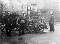 0225730 © Granger - Historical Picture ArchiveGOVERNMENT.   German Empire: fire brigade: steam nozzle - 1907 Vintage property of ullstein bild.