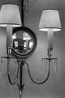 0226193 © Granger - Historical Picture ArchiveDESIGN.   German Empire Free State Prussia wall lamp in a flat - Photographer: Elisabeth Heddenhausen - 1937 Vintage property of ullstein bild.