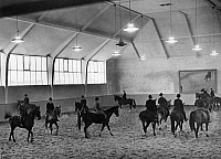 0226658 © Granger - Historical Picture ArchivePEOPLE.   Germany Free State Prussia Brandenburg Province Berlin: Tattersall (riding hall) in the Tiergarten - Photographer: Heinz Fremke - Published by: 'B.Z.' 12.02.1936 Vintage property of ullstein bild.