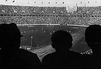 0226818 © Granger - Historical Picture ArchivePEOPLE.   Audience during the football game of Italy versus Norway (semi-final 2:1) in the Olympic Stadium during the 1936 Olympic Games. Photographed by Heinz Fremke, 1936. Vintage property of ullstein bild.