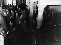 0227449 © Granger - Historical Picture ArchivePEOPLE.   German Empire - Baden Grossherzogtum (Grand Duchy) (-1918) - Freiburg Overcrowded universites. The students crowd at the corridors of the university of Freiburg. - Photographer: Minnie Sandor - 1933 Vintage property of ullstein bild.