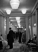 0228363 © Granger - Historical Picture ArchivePEOPLE.   Foyer of the Culm Hotel in St. Moritz, Switzerland. Published in Dame, 32/1933. Picture taken by Alfred Eisenstaedt..