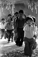 0230986 © Granger - Historical Picture ArchivePEOPLE.   China - Peking Beijing: Children practising Kung Fu exercises - 01.01.1982.