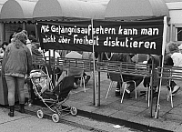 0231362 © Granger - Historical Picture ArchivePEOPLE.   ' German Democratic Republic Bezirk Berlin (Ost-Berlin) East Berlin - Demonstration against the communist regime of the SED, for freedom of press and opinion, free elections and democracy; slogan on a banner - 04.11.1989 '.