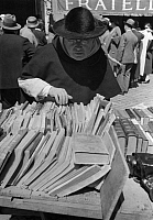 0231811 © Granger - Historical Picture ArchivePEOPLE.   Rome, Italy: Festival of books at the basilica of Konstantin nearby the Forum Romanum. Published in: Dame 24/1933. Picture taken by Alfred Eisenstaedt..