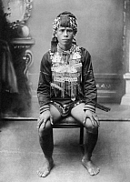0232295 © Granger - Historical Picture ArchivePEOPLE.   : Formosa/Taiwan: feared native clan chief, date unknown.