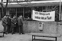 0232640 © Granger - Historical Picture ArchivePEOPLE.   ' German Democratic Republic Bezirk Berlin (Ost-Berlin) East Berlin - Demonstration against the communist regime of the SED, for freedom of press and opinion, free elections and democracy; policemen - 04.11.1989 '.