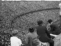 0232804 © Granger - Historical Picture ArchivePEOPLE.   Germany Berlin (West) Charlottenburg - Olympic stadium: Final church service ot the 3rd protestant Church Meeting. - 15.07.1951.