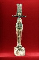 0233220 © Granger - Historical Picture ArchiveFINE ART.   Ancient Egypt Wooden statue of the god Osiris (god of fertility and of the dead) - grave good - 715-331 B.C. -.