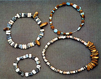 0233225 © Granger - Historical Picture ArchiveFINE ART.   Neolithic period Necklaces and bracelets, found at Catal Hueyuek , Central Anatolia - c. 6000 B.C -.