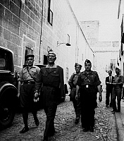 0233745 © Granger - Historical Picture ArchiveMILITARY.   Jose Millan Astray General, Spain Founder of the spanish Foreign Legion leaving the headquarter of General Franco. - 1936.