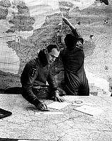 0234048 © Granger - Historical Picture ArchiveMILITARY.   Germany, German Federal Armed Forces, Air Force, Lockheed F 104 G, Starfighter pilots reading maps - 1968.