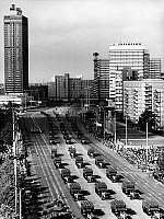 0234103 © Granger - Historical Picture ArchiveMILITARY.   German Democratic Republic Military parade in the streets of East Berlin to mark the 35th anniversary of the founding of the GDR - - 07.10.1984.