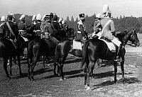 0234296 © Granger - Historical Picture ArchiveMILITARY.   German Empire, military -1914: manoeuvre in the Alsace, cavalry officers at the fringe of a parade, no further indications - undated.