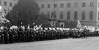 0234474 © Granger - Historical Picture ArchiveMILITARY.   German military until1914: Parade in front of the Friedrich Wilhelm University at Unter den Linden in Berlin - undated Vintage property of ullstein bild.