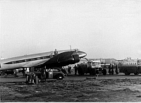 0234606 © Granger - Historical Picture ArchiveTRANSPORTATION.   Germany - Berlin: the four-engined Focke-Wulf (FW) 200 Condor D ACON, refuelling and preparation of the first non-stop flight Berlin - New York - 10./11.8.1938.